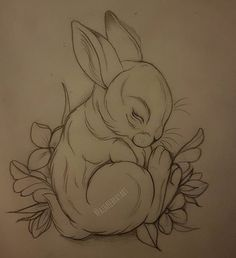 #bunny #rabbit #sketch #neo #traditional #neotraditional #tattoo