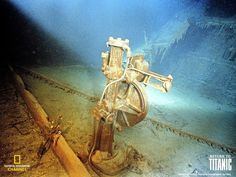 """magnificenttitanic:  """" The telemotor for the main helm of Titanic, located within the wheel house on the bridge, the surrounding walls, nearby binnacle, wheel pedestal and wheel long gone.  The telemotor was part of the hydraulic system used to steer..."""