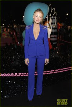 Blake Lively. Love her and this blue bizzznasty suit