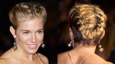 Sienna Miller French braid with undercut