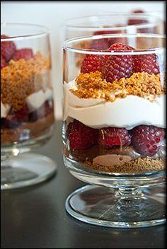 .......chocolate mousse raspberry parfait......