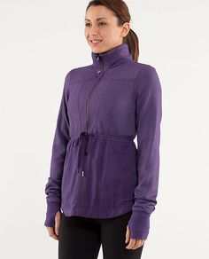 lulu jacket....Love their stuff but its sooo DANG expensive to sweat in!