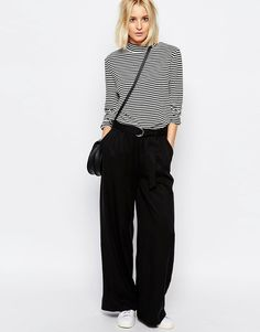 Image 1 of ADPT Wide Trousers With D Ring Belt
