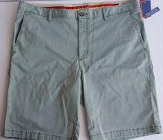 Tommy Bahama Men Size 38 Boracay Flat Front Shorts 10 Inches Balsam Green  #TommyBahama #FlatFront