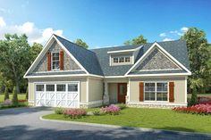 Compact Ranch Home with Bonus Space - 36095DK | 1st Floor Master Suite, Bonus Room, CAD Available, PDF, Ranch, Split Bedrooms, Traditional | Architectural Designs