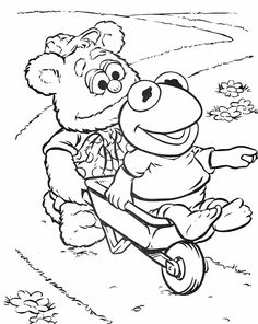 nice Muppet Coloring Pages Free Download