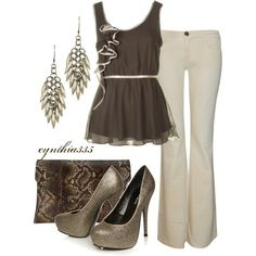 gorgeous soft browns and creme outfit