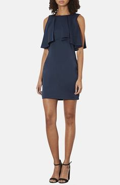 DRESSES: Topshop Ruffled Bodice Satin Body-Con Dress available at #Nordstrom