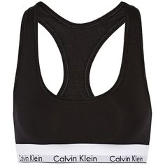 Calvin Klein Underwear Modern stretch cotton-blend soft-cup bra (€41) ❤ liked on Polyvore featuring intimates, bras, black, calvin klein underwear, stretch bra and soft cup bra