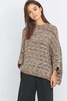 BDG Textured Poncho Jumper - Urban Outfitters