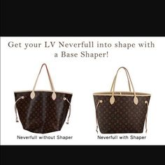 Base shaper fits Neverfull GM Fits authentic bag only. Will help keep your bag in shape. No more saggy bag Louis Vuitton Accessories Louis Vuitton Neverfull Mm, Louis Vuitton Handbags, Tote Handbags, Neverfull Gm, Authentic Louis Vuitton Bags, Louis Vuitton Accessories, Tote Bag, Purses, Base