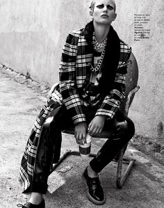 visual optimism; fashion editorials, shows, campaigns & more!: punk solaire: ellinore erichsen by david roemer for grazia france 30th august 2013