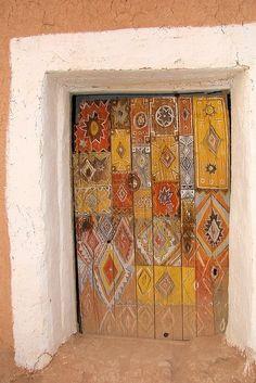 Bemalte Tür, painted door | Mohenjo Daro, Pakistan
