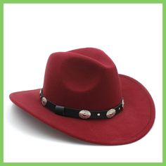 New Vintage Winter 100% Wool Western Cowboy Fedora Hat For Womem Men Wide Brim Cowgirl Jazz Cap With Leather Toca Sombrero Cap