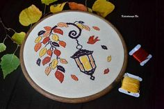 An Autumn Lantern. Cross Stitch Pattern PDF Instant download