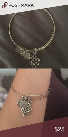 Silver Endless Knot Alex and Ani Silver Endless Knot Alex & Ani Authentic ...does not come with original packaging Alex & Ani Jewelry Bracelets