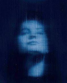 Blue Face in the Sun, oil on paper, 1999, Alison Van Pelt