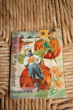 ATC for friend by DianthusMoon, via Flickr