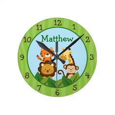 Safari Jungle Animal Nursery Wall Clock lowest price for you. In addition you can compare price with another store and read helpful reviews. BuyReview          	Safari Jungle Animal Nursery Wall Clock Here a great deal...