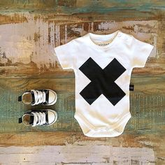 BABY • #Huxbaby #SS15 cross onesie & #Converse #BabyChucks. Both styles are now running low, available at #TinyStyle in #Noosa & online •  www.tinystyle.com.au