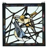 Found it at Wayfair - Lodge Tiffany Animals Early Morning Visitors Stained Glass Window - #giftideas