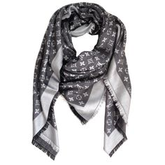 Louis Vuitton Scarf Monogram Denim Shawl Black