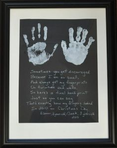 Just cried! I wish their hands would stop growing! I may need to do this every Christmas!