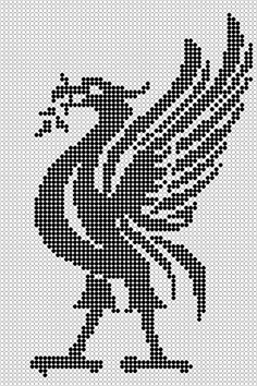 Bilderesultat for mønster liverpool Liverpool Fc Badge, Liverpool Bird, Hama Beads Patterns, Loom Patterns, Cross Stitch Patterns, Cross Stitch Harry Potter, Liverpool Fc Wallpaper, Plastic Canvas Stitches, Cross Stitch Bookmarks