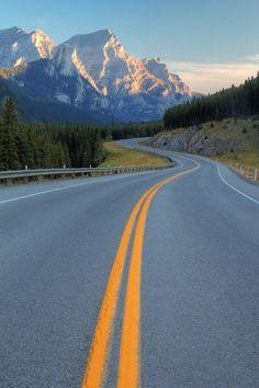 Mountain Road by ~StevenDavisPhoto on deviantART - Kananaskis Country, Canadian Rockies