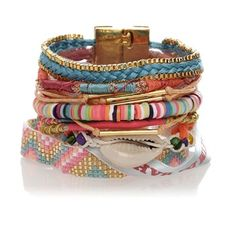 Bracelet brésilien Rainbow - Hipanema - Nouvelle Collection et ventes privées - Ref: 1246772 | Brandalley