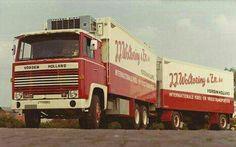 Scania LBS 140 6x2 met koelaanhanger van J.J.Woltering in Vorden
