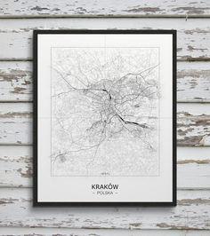 Mapa - plakat - Kraków  Gdzie kupić? www.eplakaty.pl