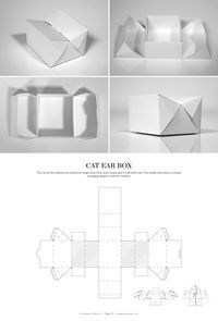 Cat Ear Box – FREE resource for structural packaging design dielines