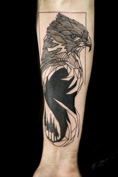 Crystal Hawk Nicholas Hart @ Deep Roots Tattoo in Seattle, WA http://nickharttattoo.tumblr.com/