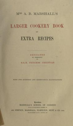 Larger cookery book of extra recipes