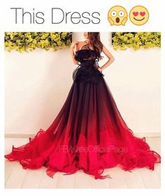 Beautiful red and black kinda ombré dress❤️✔️