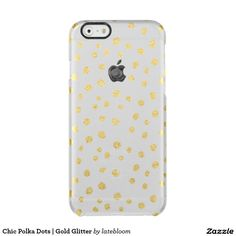 Chic Polka Dots | Gold Glitter Clear iPhone 6/6S Case