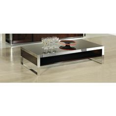 B131D Modern Ebony Lacquer Coffee Table - Coffee Tables - Living Room
