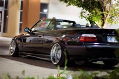 Dope BMW e36 cabrio on fantastic custom built BBS RS wheels