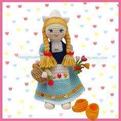 Dutch Doll Amigurumi PDF Crochet Pattern by HandmadeKitty
