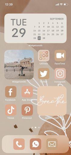 iOS 14 Icons Aesthetics - Neutral Fall Tone Nude iOS 14 Iphone App icons Aesthetics -55 Icons Shortcuts Cover Free Widget Photos Wallpapers