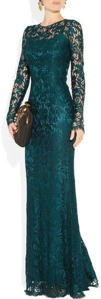 Dolce & Gabbana Lace Gown in Blue (petrol). Same style in grey lace? Would it work for the occasion? Elegant Dresses, Pretty Dresses, Beautiful Dresses, Elegant Gown, Mother Of Groom Dresses, Mothers Dresses, Mob Dresses, Fashion Dresses, Formal Dresses