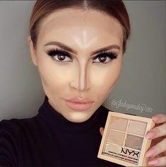 Focus sur l'Art du contouring - Sculptez et illuminez votre visage avec 3 nouveautés NYX. Conceal, Correct, Contour Palette #NYX #contour #highlight #palette #wonderstick #nouveauté #makeupsens #marque #américain #maquillage #produitdebeaute #nouveauté #saintvalentin