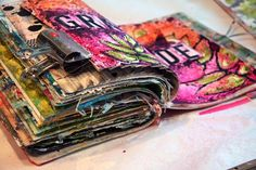 the daily musings of a creative soul Bible Study Journal, Art Journal Pages, Junk Journal, Art Journals, Art Journal Inspiration, Journal Ideas, Altered Books, Altered Art, Sketchbook Layout