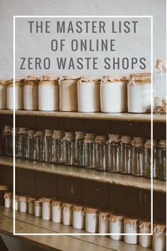 master list of online zero waste shops, sorted by location, so you can order what you need from the closest one and still reduce your shipping emissions!