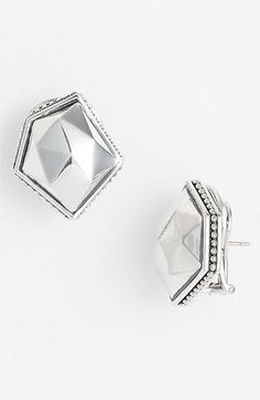 Lagos 'Silver Rocks' Angled Earrings available at #Nordstrom