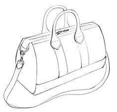 Handbag Tattoo Flat Sketches Shoe Drawing Bag Fashion Sketchbook