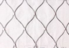 Custom Curtains in Sheer White with Silver-Gray in Round Diamond Pattern One Panel Custom sizes available on Etsy, $79.00