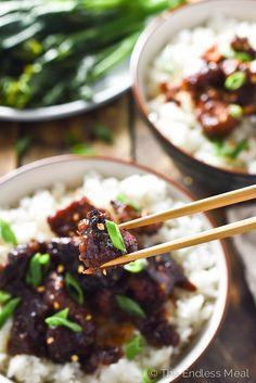 The Best Crock Pot General Tso's Chicken | theendlessmeal.com