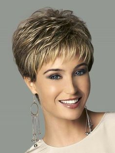 Online Shop Synthetic highlights blonde short female haircut, puffy pelucas pelo natural short hair wigs for black women Haircuts Straight Hair, Short Hairstyles For Thick Hair, Short Hair Wigs, Very Short Hair, Short Pixie Haircuts, Short Hair With Layers, Haircuts With Bangs, Short Hair Cuts For Women, Wig Hairstyles